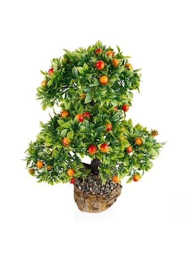 Çiçekmisin Kütük Saksıda Yapay Erik Ağacı Renkli